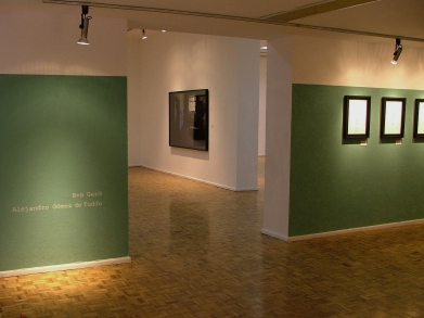 exhibition view, in the backgound Alejandro Gomez de Tuddo, photography